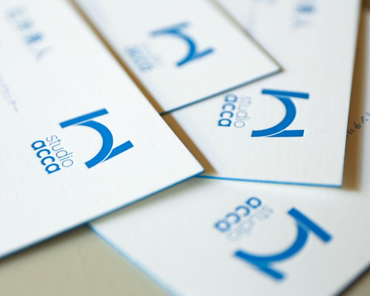 Business card(小口染+活版)